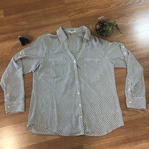 Express Portofino button up long sleeve shirt L